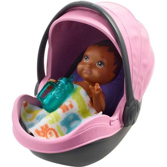 Barbie Babysitters Set de Joaca Carucior roz 3