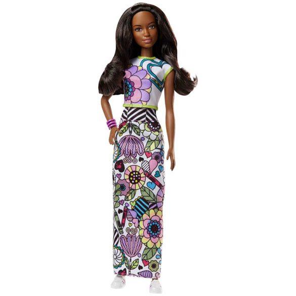 Barbie Crayola Papusa Bruneta cu Tinute Colorate 2