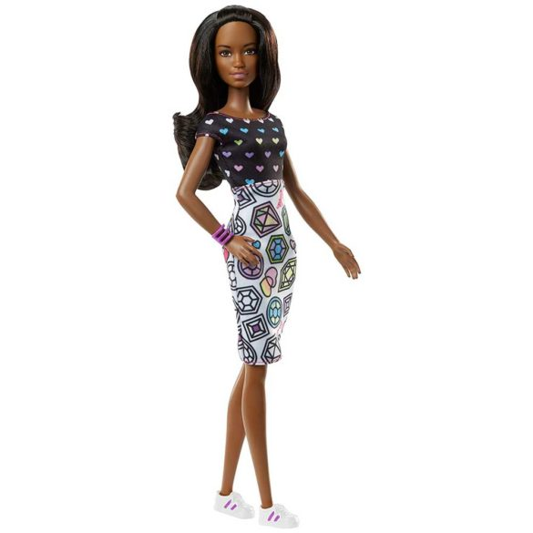Barbie Crayola Papusa Bruneta cu Tinute Colorate 4
