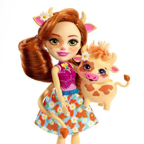 Enchantimals Papusa Cailey Cow si Figurina Curdle 2