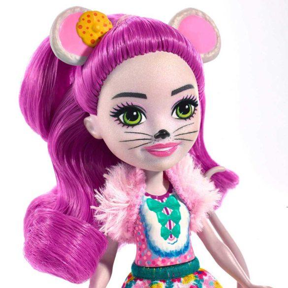Enchantimals Papusa Mayla Mouse si Figurina Fondue 4
