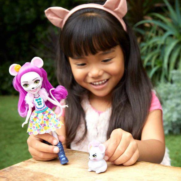 Enchantimals Papusa Mayla Mouse si Figurina Fondue 6