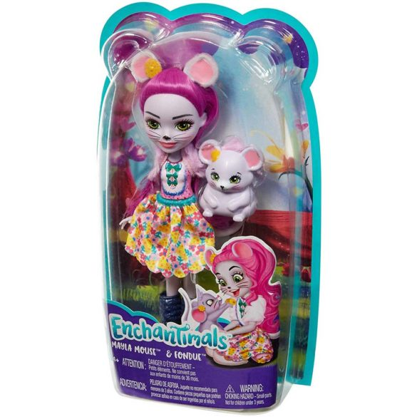 Enchantimals Papusa Mayla Mouse si Figurina Fondue 8