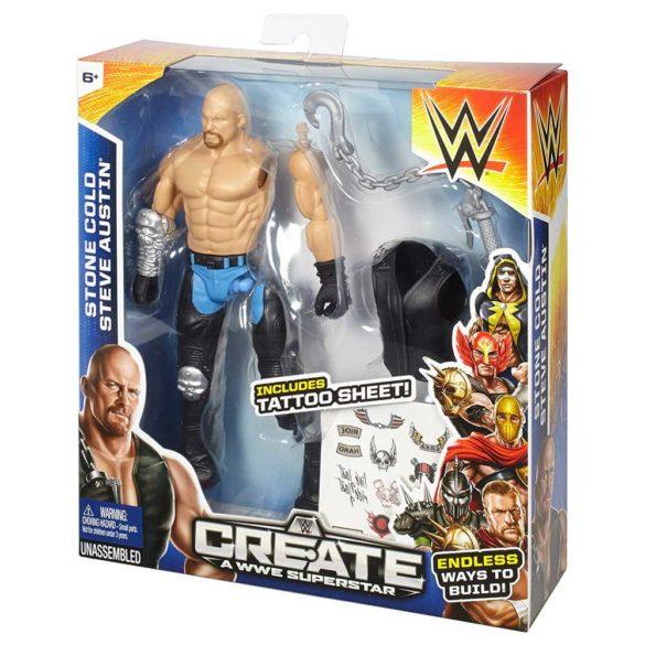 Figurina WWE Creeaza un Superstar Stone Cold 5