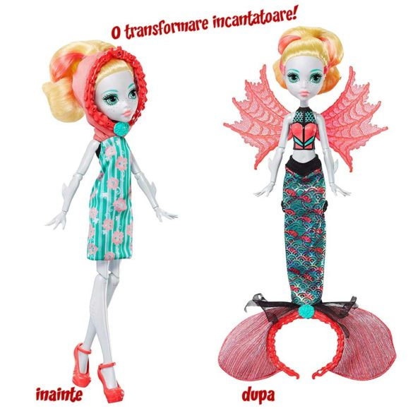 Monster High Transformarea Papusa Lagoona Ghoul To Mermaid