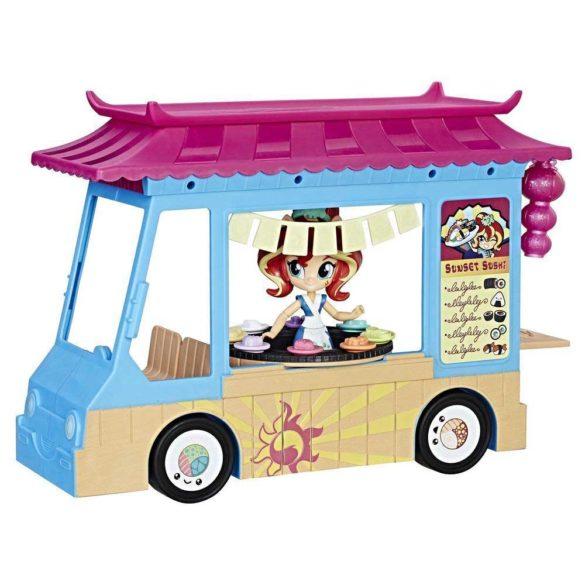 My Little Pony Set de Joaca Camionul de Sushi si Papusa Sunset 1