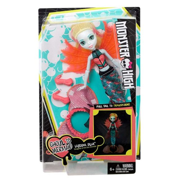 Papusa Lagoona Blue Transformarea Monster High Ghoul To Mermaid 10