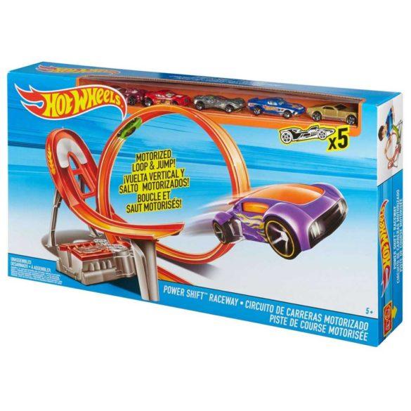 Pista Hot Wheels Power Shift Raceway cu 5 Masinute 6