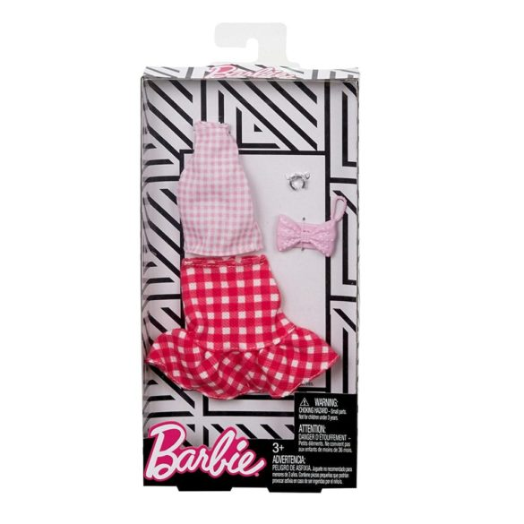 Barbie Hainute Complete Fustita cu Volanase si Top in Carouri 2