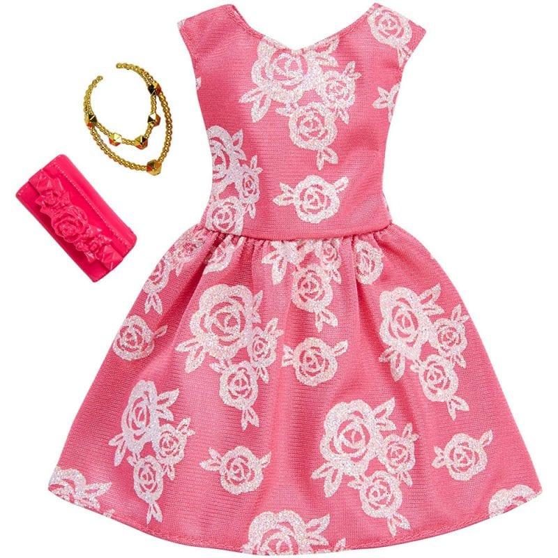 Barbie Hainute Complete Rochita Roz cu Model Floral