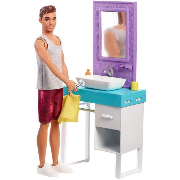 Barbie Papusa Ken cu Barba si Setul de Baie 2