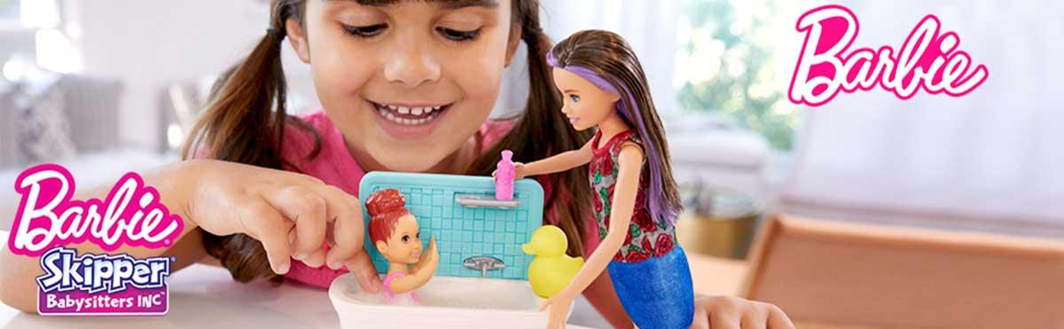 Barbie Skipper Babysitters Papusa si Setul de Joaca la Baie