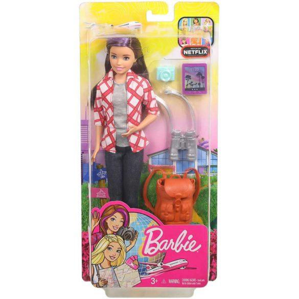 Barbie in Calatorie Papusa Skipper cu 4 Accesorii 6