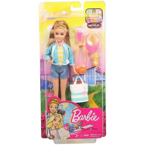 Barbie in Calatorie Papusa Stacie cu 5 Accesorii 6