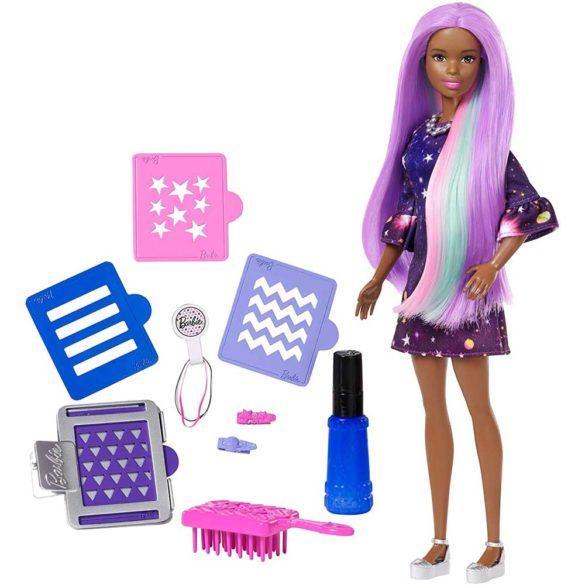 Papusa Barbie Bruneta cu Accesorii pentru Vopsirea Parului 1