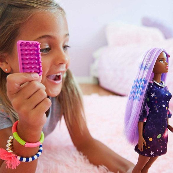 Papusa Barbie Bruneta cu Accesorii pentru Vopsirea Parului 8