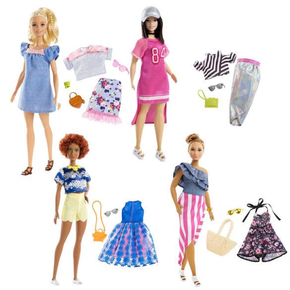 Papusa Barbie Fashionistas cu Tinute de Schimb