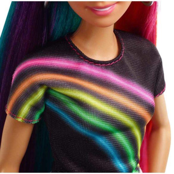Papusa Barbie cu Par Curcubeu Stralucitor 4