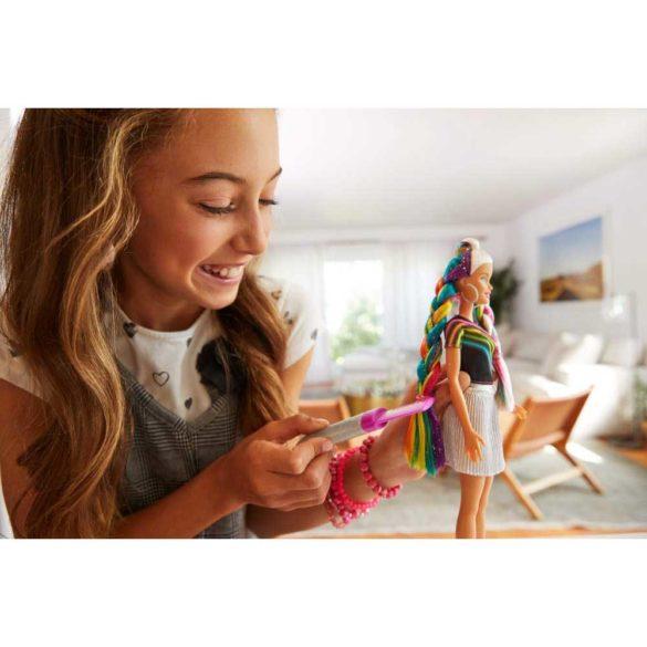 Papusa Barbie cu Par Curcubeu Stralucitor 8