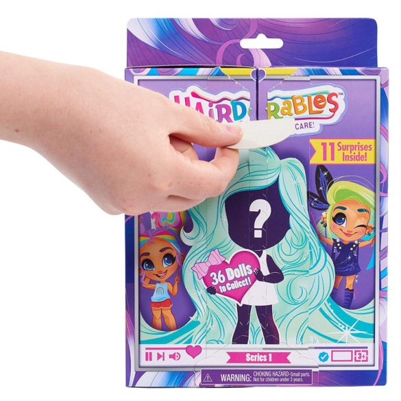 Papusa Hairdorables Seria 1 cu 11 surprize in cutie 3