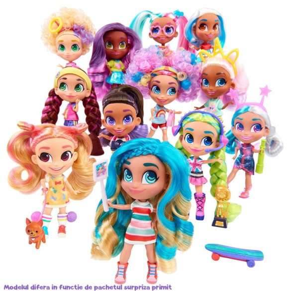 Papusa Hairdorables Seria 1 cu 11 surprize in cutie 4