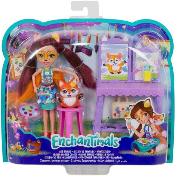 Enchantimals Papusa Felicity Fox si Studioul de Arta 7