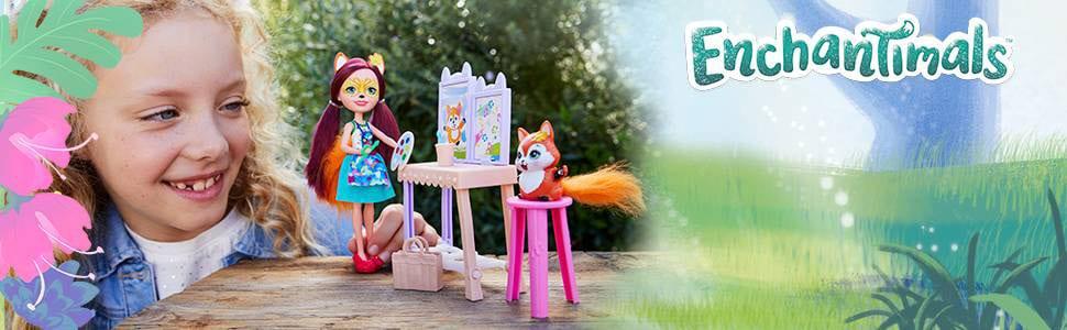 Enchantimals Papusa Felicity Fox si Studioul de Arta