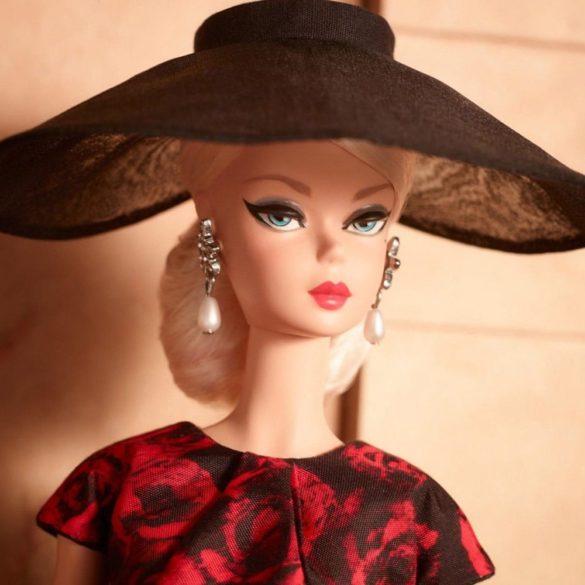 Papusa Barbie Signature Elegant Rose Cocktail Dress 3