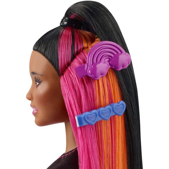 Papusa Barbie cu Par Curcubeu Stralucitor Bruneta 7