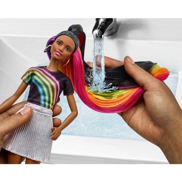 Papusa Barbie cu Par Curcubeu Stralucitor Bruneta 8