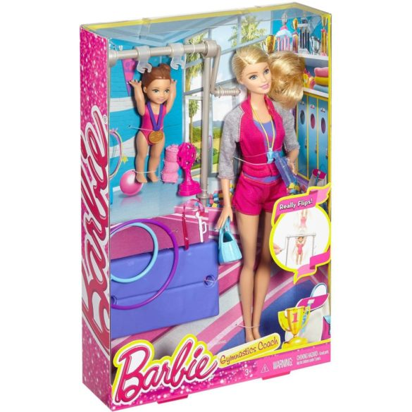 Set de Joaca Barbie Antrenoare de Gimnastica 6
