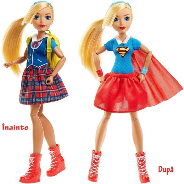 Papusa Supergirl Rochie 2 in 1 1