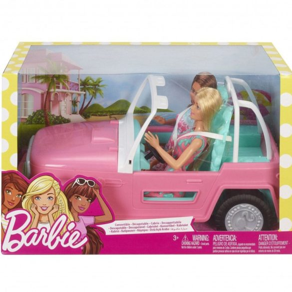 Barbie Masina Jeep cu Doua Papusi FPR59 7
