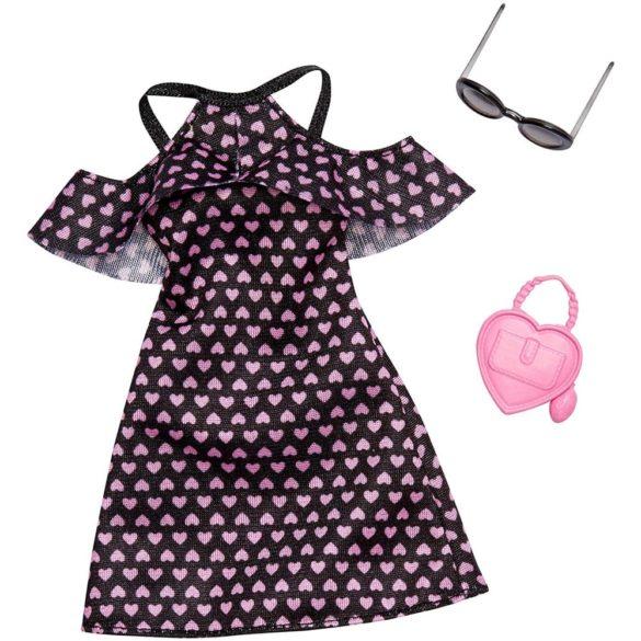 Barbie Tinuta Completa - Rochie cu Inimioare Roz