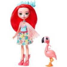 Enchantimals Papusa Fanci Flamingo si Figurina Swash