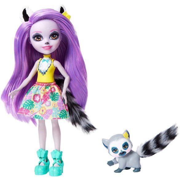 Enchantimals Papusa Larissa Lemur si Figurina Ringlet