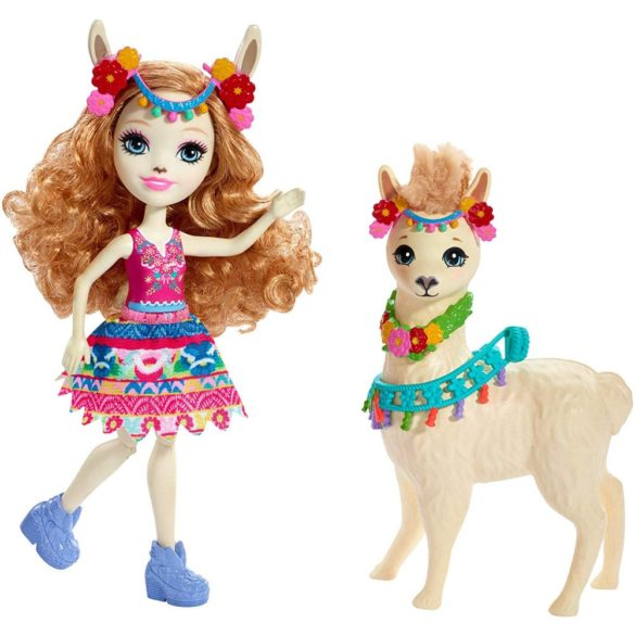 Enchantimals Papusa Lluella Llama si Figurina Fleecy