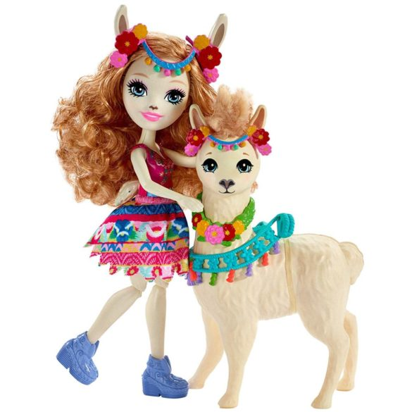 Enchantimals Papusa Lluella Llama si Figurina Fleecy 2