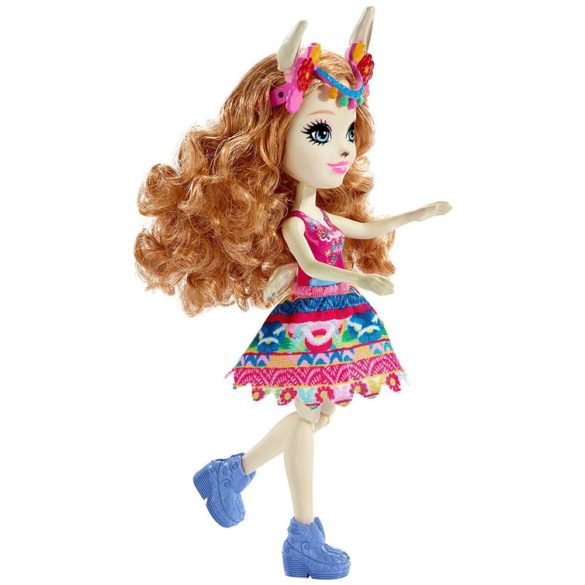 Enchantimals Papusa Lluella Llama si Figurina Fleecy 3