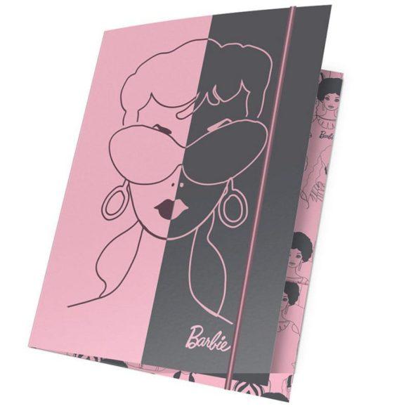 Mapa A4 cu Elastic Barbie Aniversare 60 ani Roz - Gri