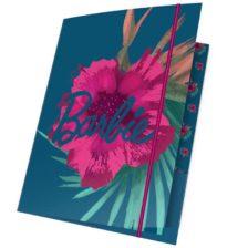 Mapa Barbie A4 cu Elastic si Floricele Roz