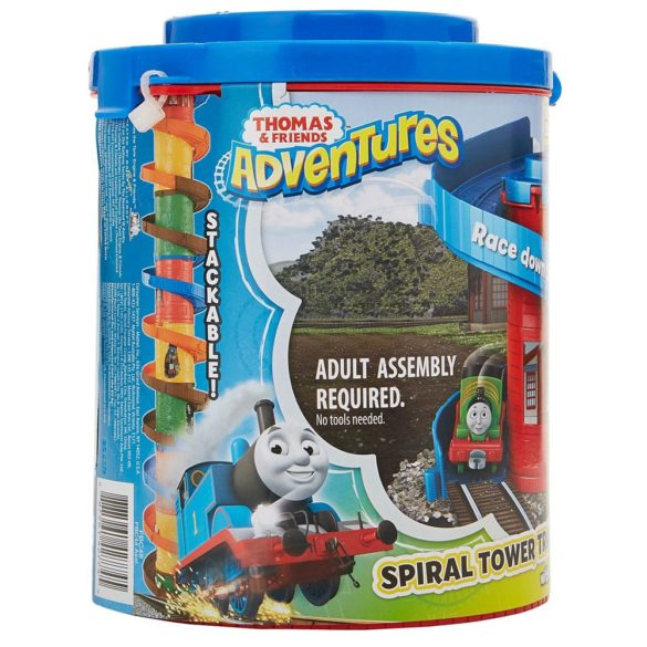 Set de joaca Thomas Locomotiva Percy si Spirala Tower Tracks