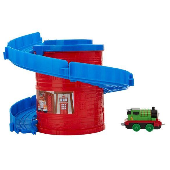 Set de joaca Thomas Locomotiva Percy si Spirala Tower Tracks 3