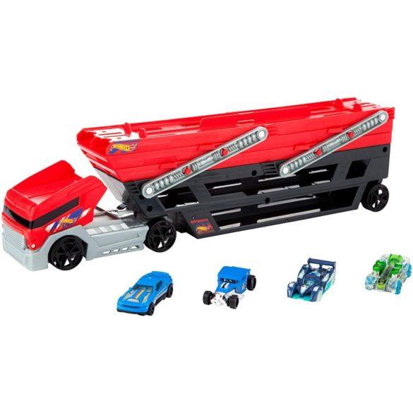 Camion Transportator Hot Wheels cu 4 Masinute