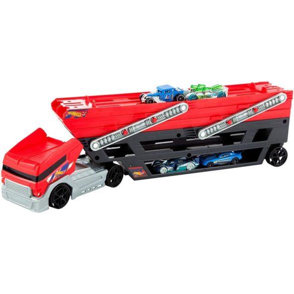 Camion Transportator Hot Wheels cu 4 Masinute 3