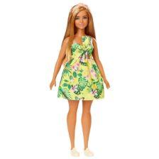 Papusa Barbie Fashionistas #126 Rochita cu Print Tropical