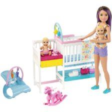 Barbie Babysitters Set de Joaca cu Papusa si Bebelusi