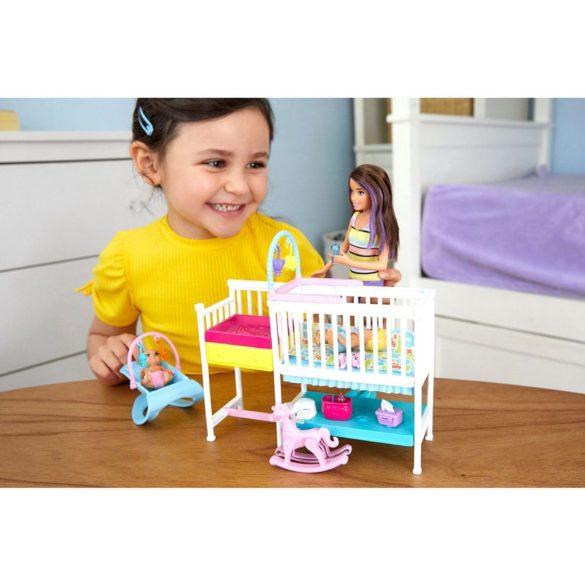 Barbie Babysitters Set de Joaca cu Papusa si Bebelusi 6