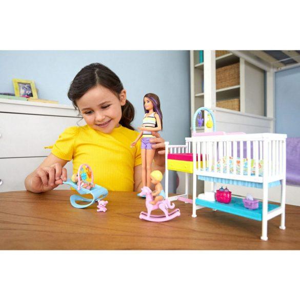 Barbie Babysitters Set de Joaca cu Papusa si Bebelusi 7