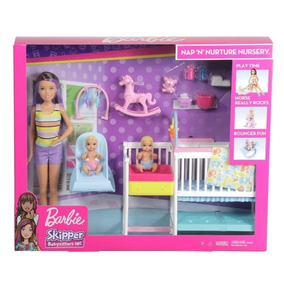 Barbie Babysitters Set de Joaca cu Papusa si Bebelusi 9